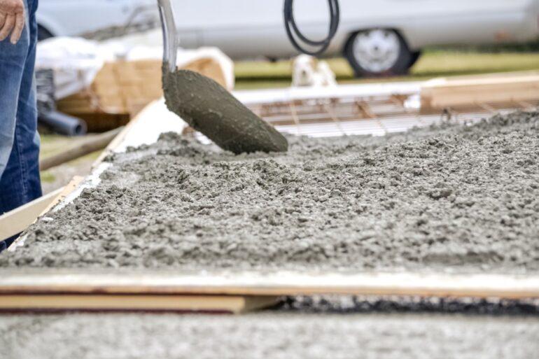 pouring a new concrete foundation