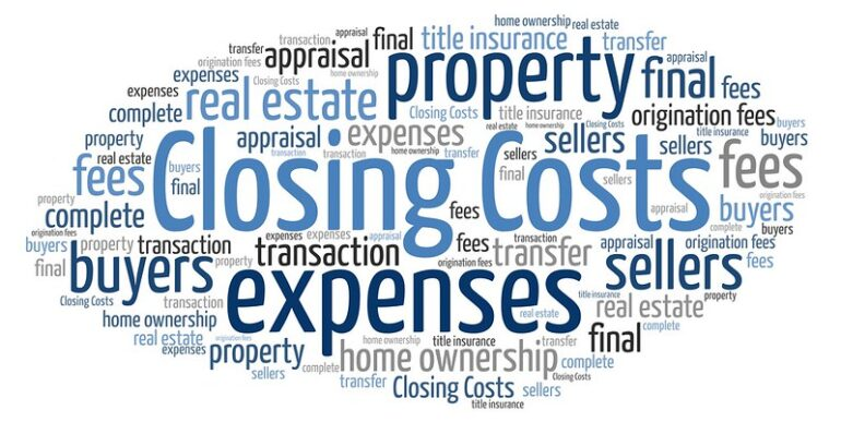 the costs of selling a home typographic
